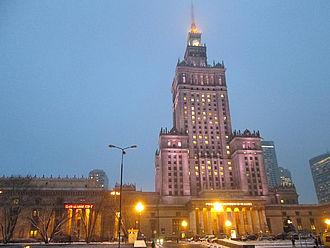 Kultur- und Wissenschaftspalast in Warschau © HTW Berlin / Tobias Nettke
