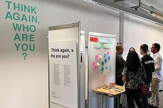 Think again… auf der Werkschau 2017. © HTW Berlin / Tobias Nettke