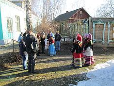 Exkursion 2014: Traditionelle Begrüßung im Heimatmuseum Nerechta