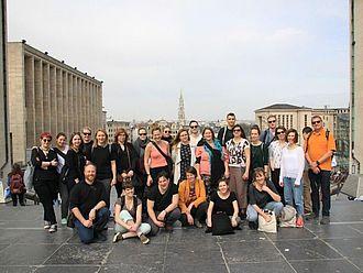 Gruppenbild nach einer Stadtführung © HTW Berlin / Tobias Nettke
