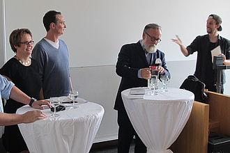 "Podiumsdiskussion zum Thema ""Kunst und Kapital"". © HTW Berlin / Sandra Schulze"