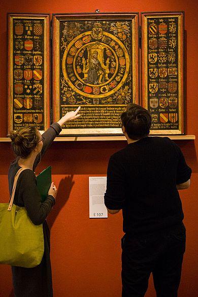 Studierende im Deutschen Historischen Museum.