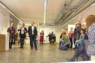 Projekte aus MMK und MK in Raum 402. © HTW Berlin / Jürgen Feige
