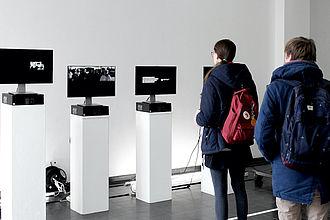 Video-Installation bei EINBLICKE 2019. © HTW Berlin / Verónica Orsi