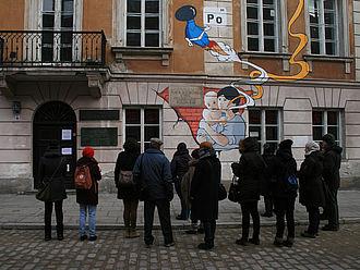 Außenfassade vom Marie-Curie-Museum © HTW Berlin / Lina Frubrich
