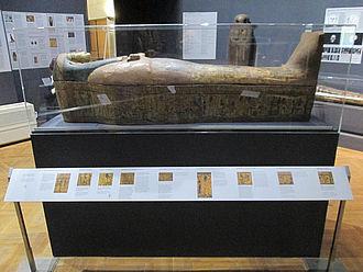 Ägyptischer Sarkophag im Nationalmuseum © HTW Berlin / Tobias Nettke