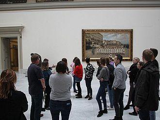 Führung im Kunstmuseum Fin-de-Siècle © HTW Berlin / Tobias Nettke