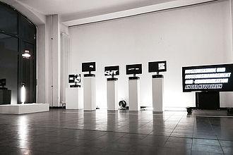 Videoinstallation bei einBlicke 2019. © HTW Berlin / Tobias Kämpfe