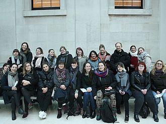 Die Gruppe in der Haupthalle des British Museums, kurz vor dem Gespräch mit dem International Engagement Department © HTW Berlin / Tobias Nettke